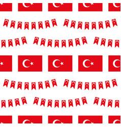 Flag turkey design elements seamless pattern vector