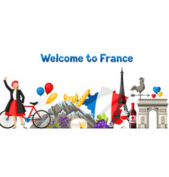 france banner design vector image