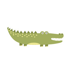 funny alligator isolated element for kids design vector image
