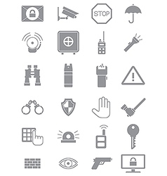Gray guard icons set vector image
