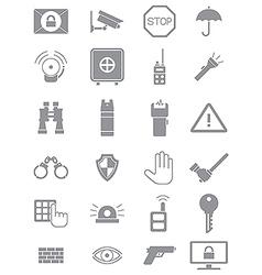 Gray guard icons set vector