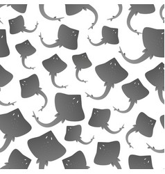 Gray ray fish simple seamless pattern eps10 vector