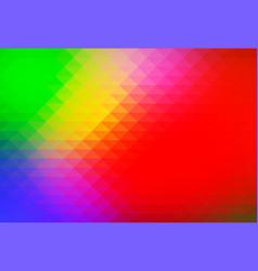 Green blue orange red rows of triangles background vector