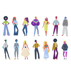 group minimalistic abstract retro fashion vector image