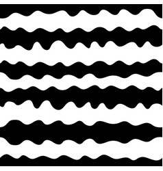 Hand drawn wavy lines seamless pattern vector