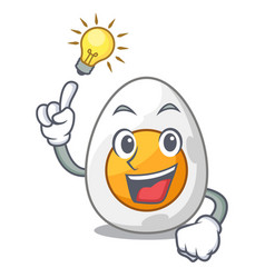 Have an idea freshly boiled egg isolated on mascot vector