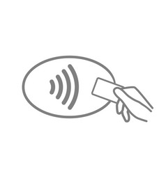icon pay contactless payment logo tap card vector image