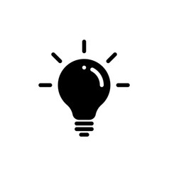 idea bulb icon lamp light bulb isolated silhouette vector image