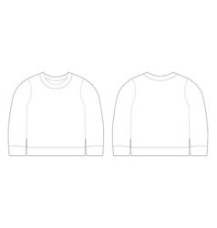 Infant t-shirt sweatshirt sketch template front vector