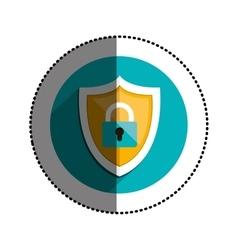 Isolated padlock design vector