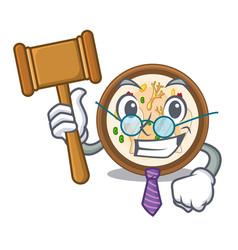 Judge samgyetang in a cartoon plate vector