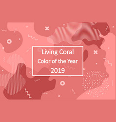 living coral - color of the year 2019 abstract vector image
