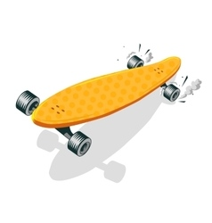 Long Board Cool Comic Cartoon vector