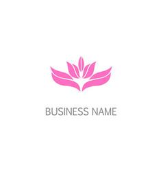 lotus flower leaf blossom beauty logo vector image