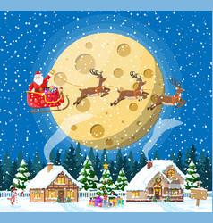 merry christmas holiday xmas celebration vector image