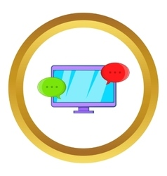 Messages on computer icon vector