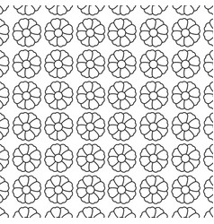 monochrome contour with flowers pattern floral vector image