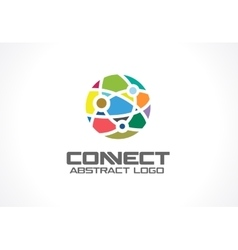 Network social media and internet connect vector