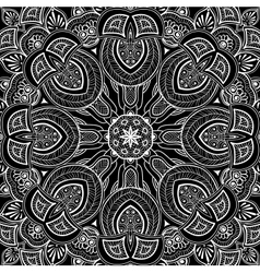 Ornamental round background vector