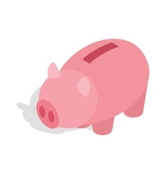 Piggy bank icon isometric 3d style vector image