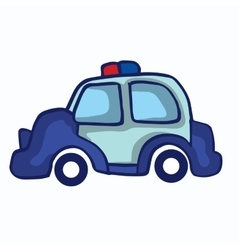 Police car collection stock vector image