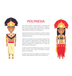 Polinesian couple traditions vector