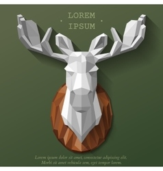 Poly elk head vector