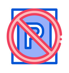 prohibited parking icon outline vector image