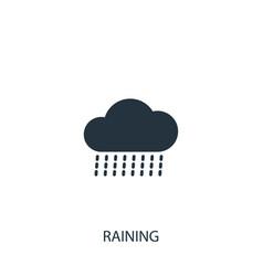 Rainy cloud icon simple gardening element symbol vector