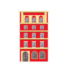 red european style classic building facade vector image