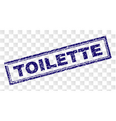 Scratched toilette rectangle stamp vector