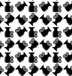 Seamless pattern video camera vector
