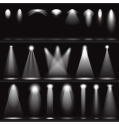 Set of scene illuminations spotlights vector