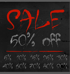 set sale labels for discount season vector image