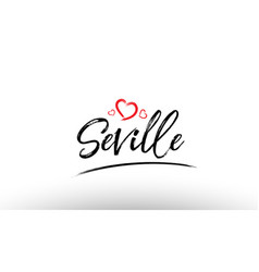 Seville europe european city name love heart vector