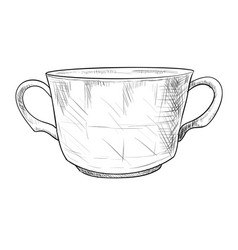 sketch of pot vector image