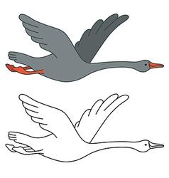 Soaring goose vector