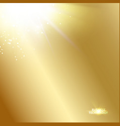 Sun ray shining a the top of image over the golden vector