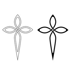 Symbol faith christian church cross graceful vector