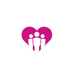 team love logo icon design vector image