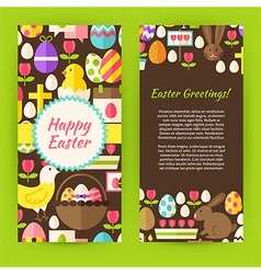 Vertical Flyer Template Flat Happy Easter vector image