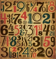 Vintage numbers vector