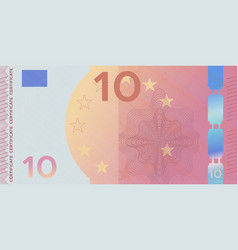 Voucher template banknote 10 with guilloche vector