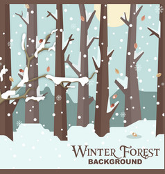 Winter forest background snow tree image vector