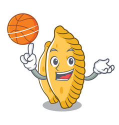 With basketball pastel character cartoon style vector