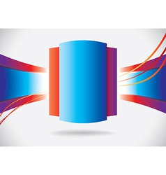 Abstract blue rectangle with ribbons vector image