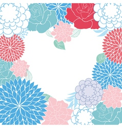 background rose heart card vector image vector image