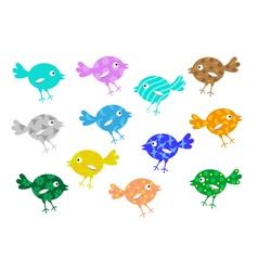 Cheerful birdies vector image