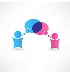 Dialog speech bubbles vector image vector image