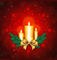 elegant merry christmas backgrounds with lighting vector image